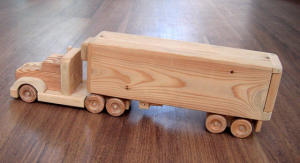 example of wood made truck for boys